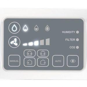 Automatizare de perete prin fir (remote panel+CO2 senzor) NovingAIR ACTIVE